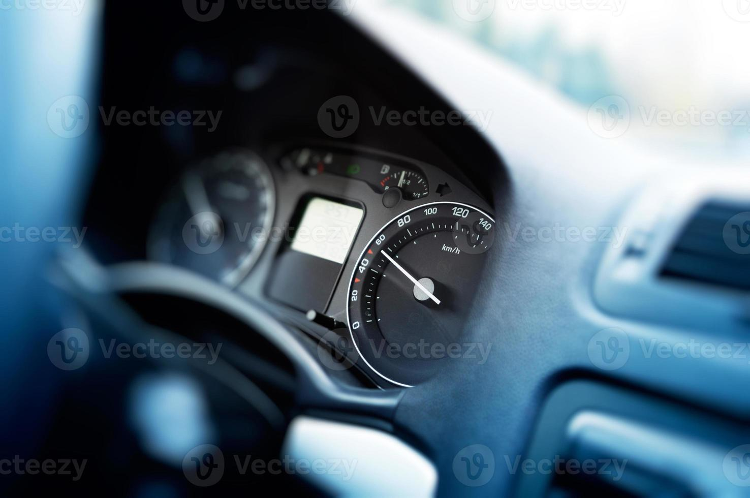 Card dashboard in motion at 60 kmh photo