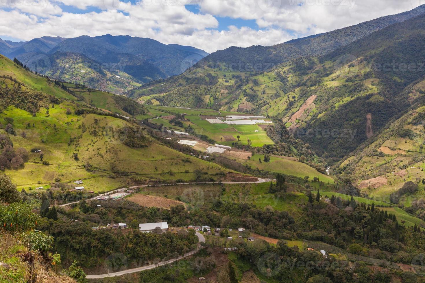 vila andina, américa do sul foto