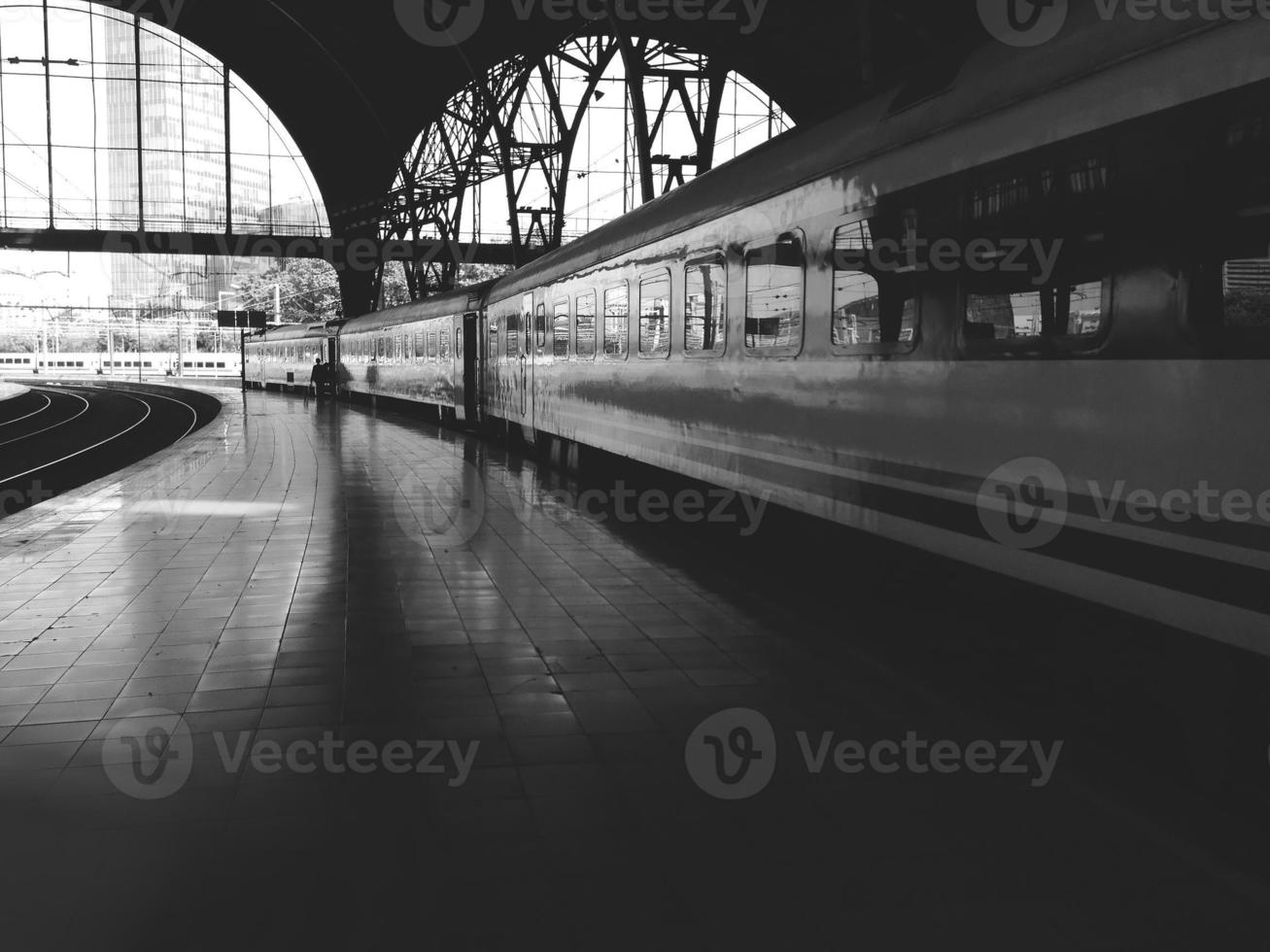 Train station, the trains and platform photo