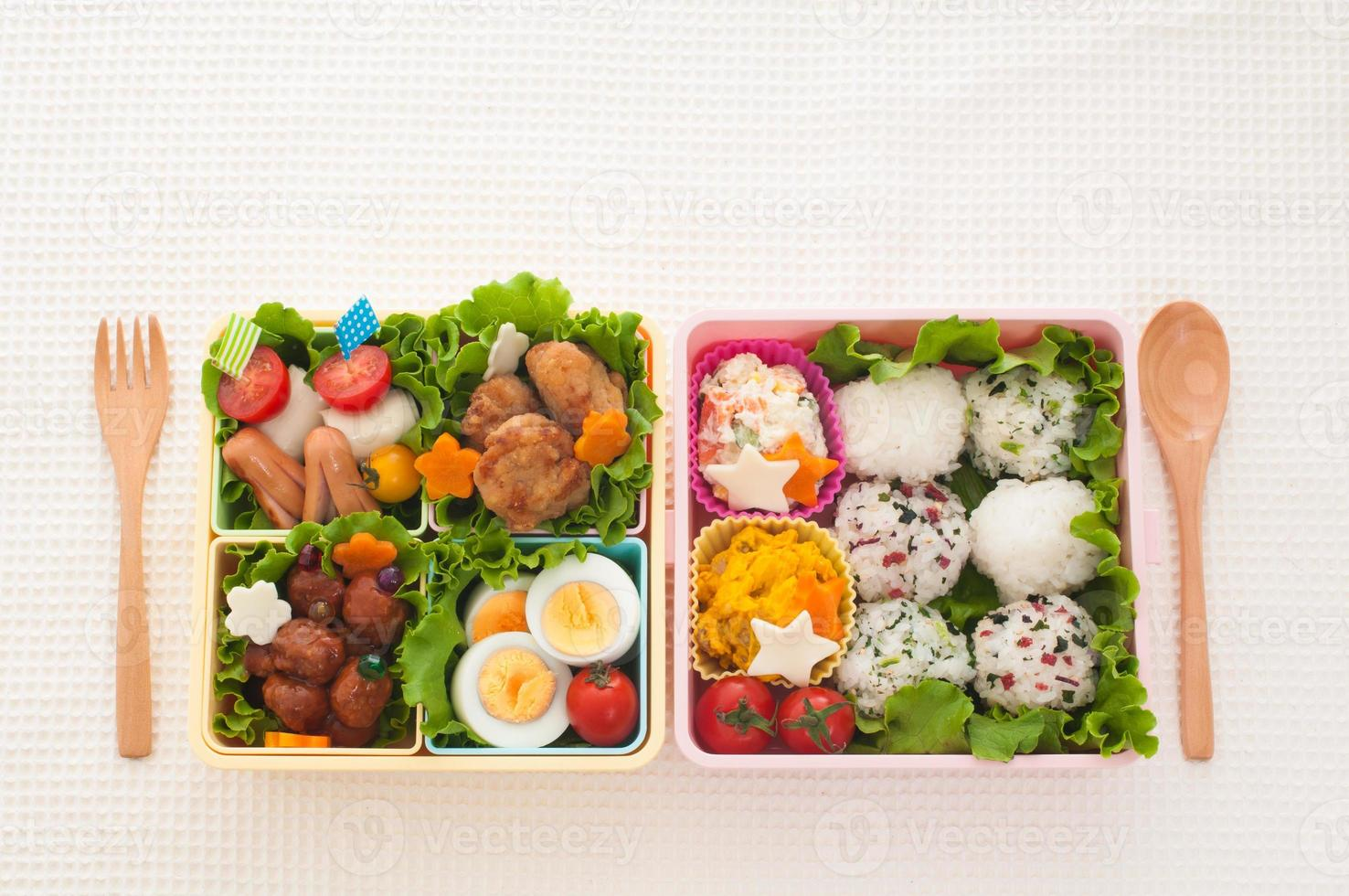 Japanese colorful lunch photo