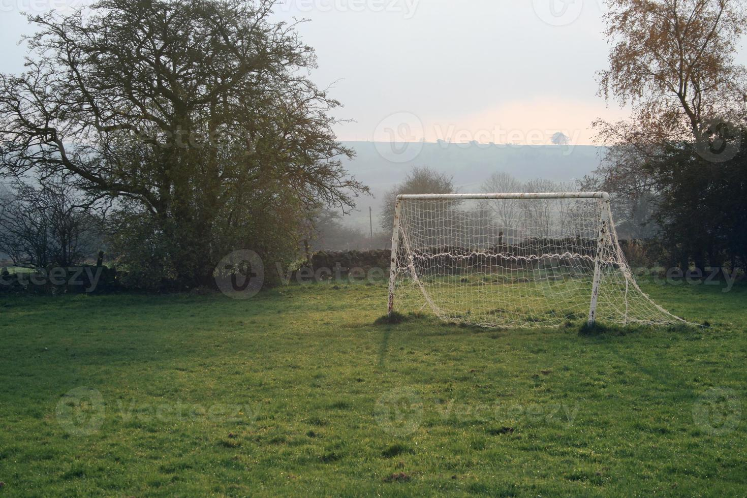 Lonely English Football, Soccer Goal photo