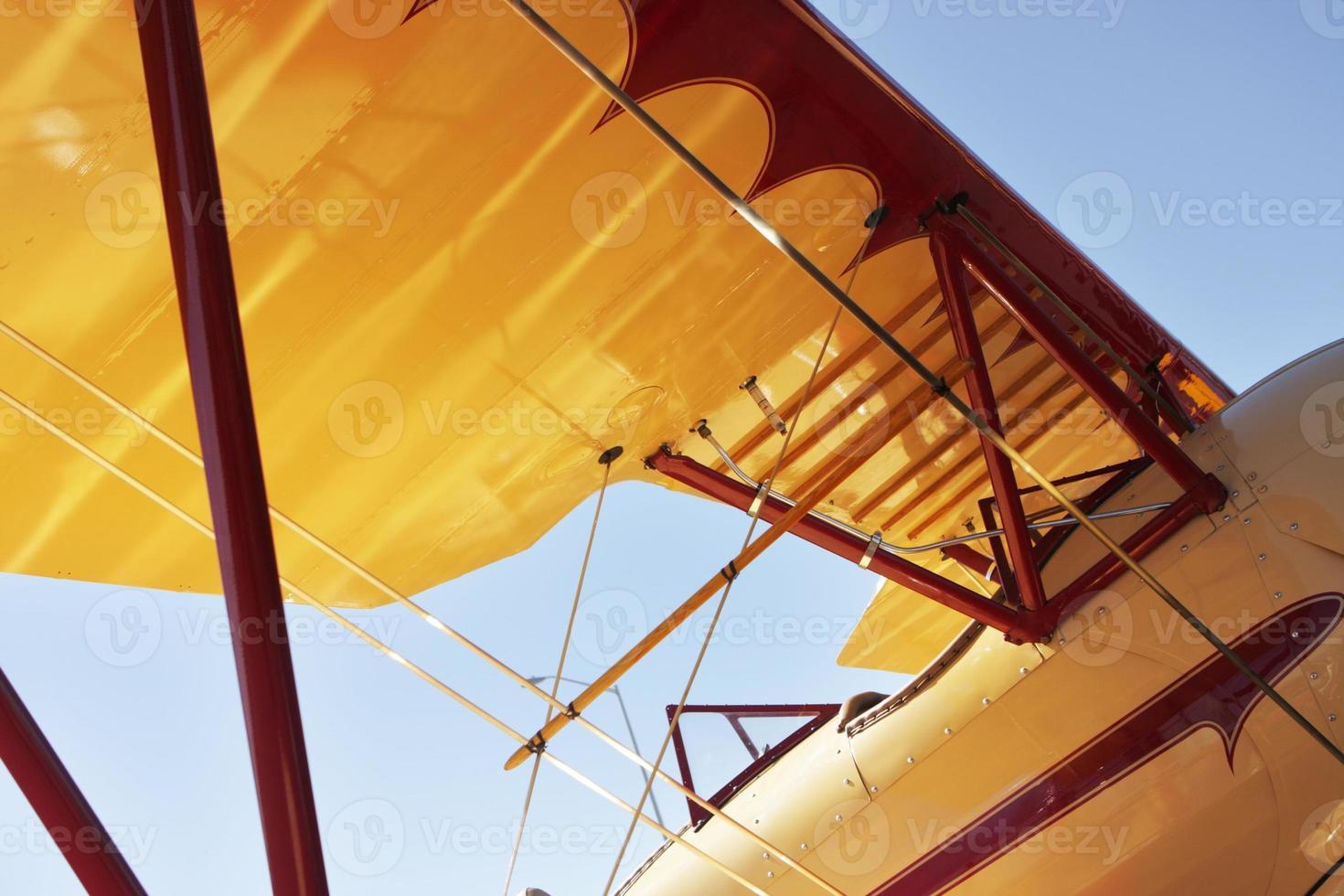ala del fuselaje del avión foto