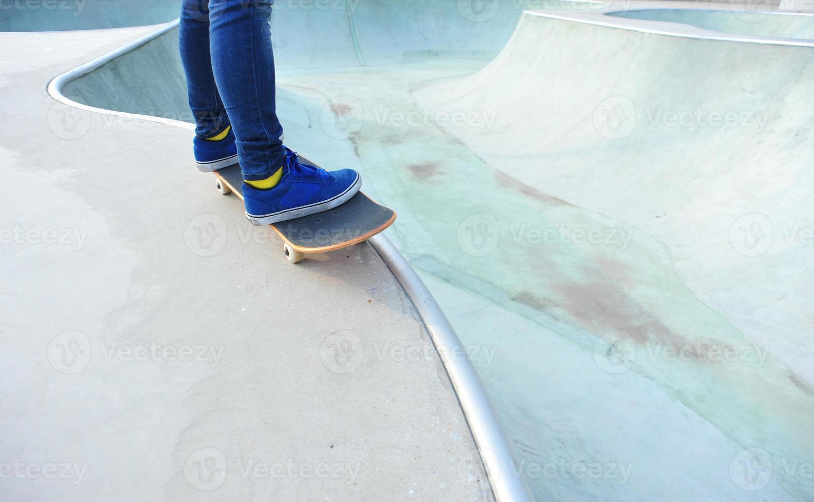 piernas de skate foto