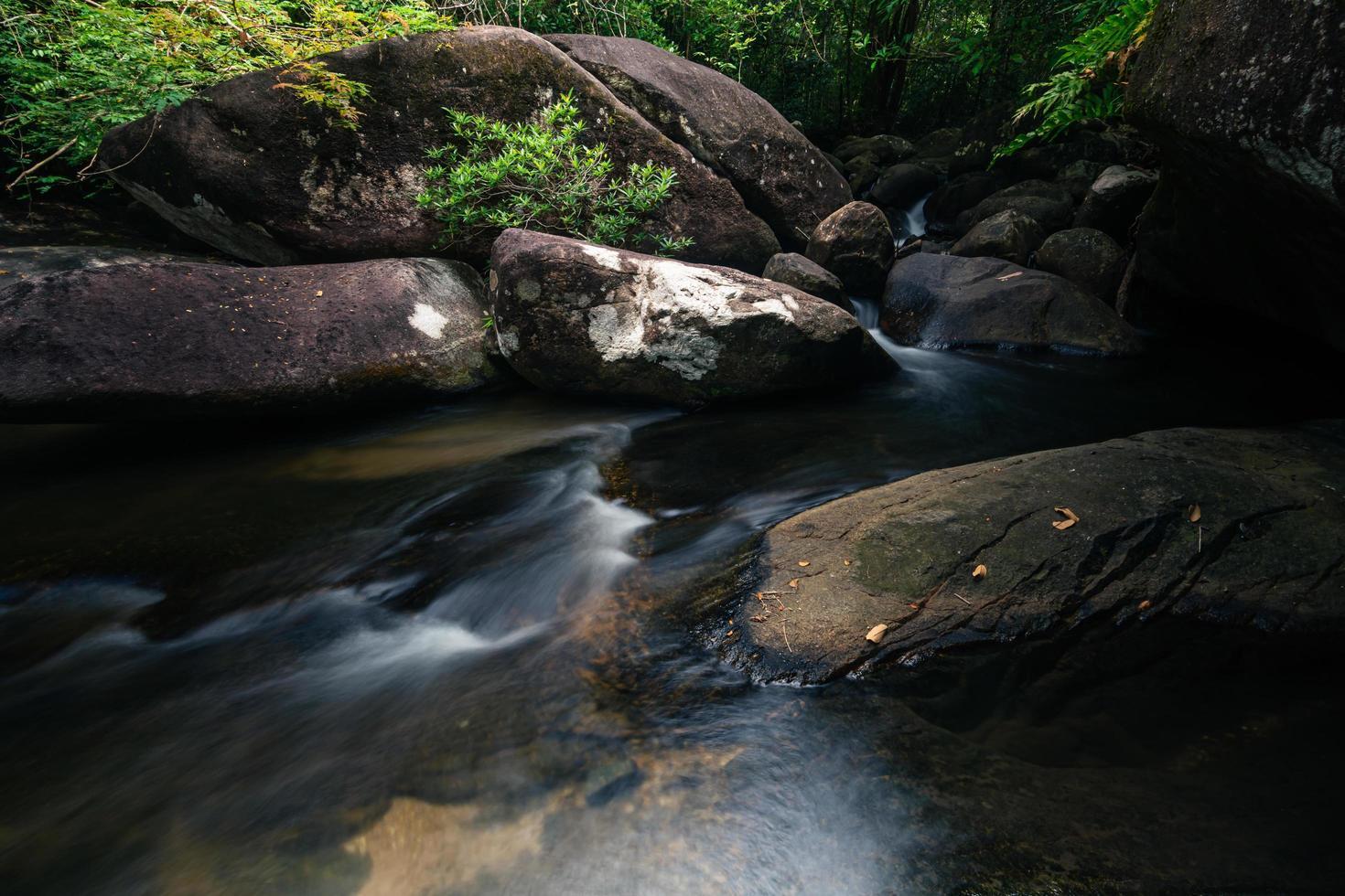 arroyo en la cascada khlong pla kang foto