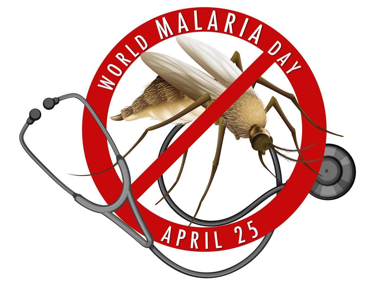 banner del día mundial de la malaria vector