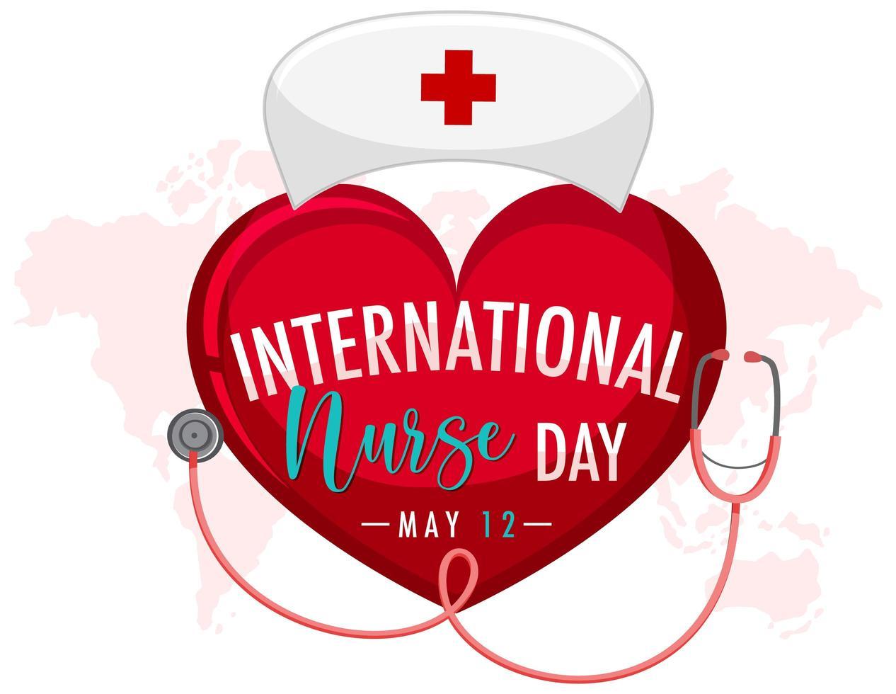 diseño del día internacional de la enfermera vector