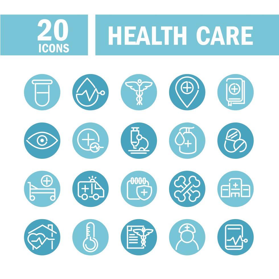 conjunto de iconos de salud vector
