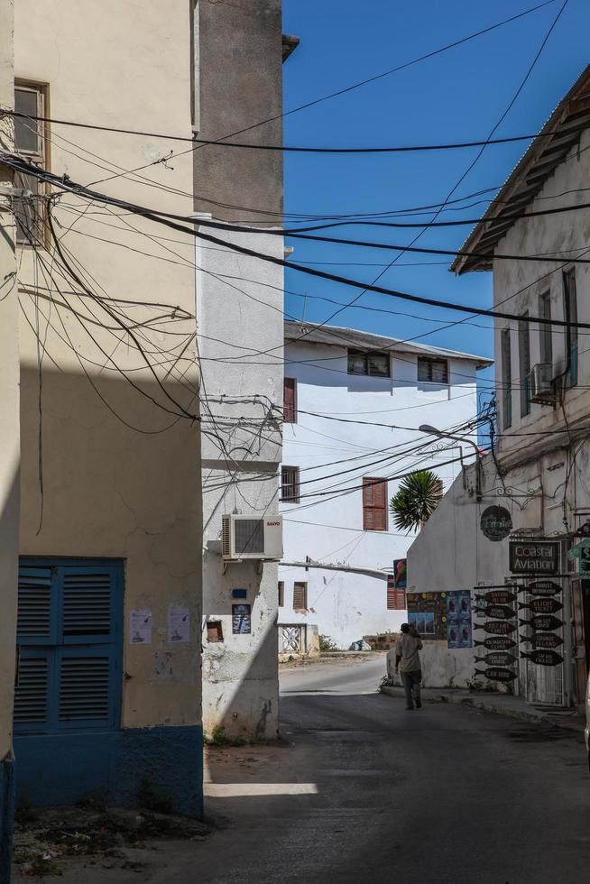 callejones en zanzíbar foto