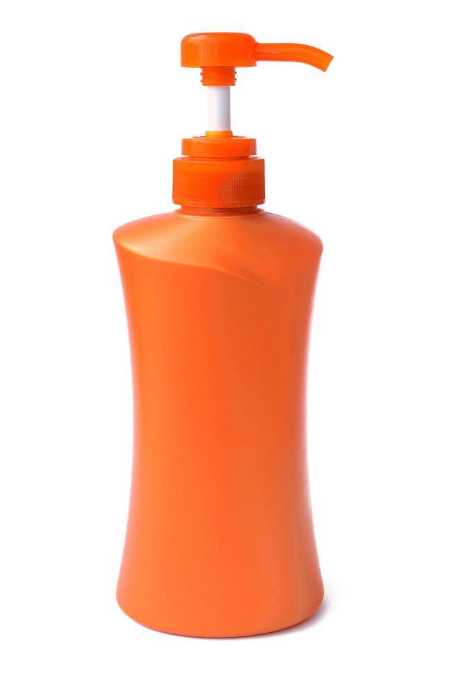 botella de plástico para productos líquidos foto