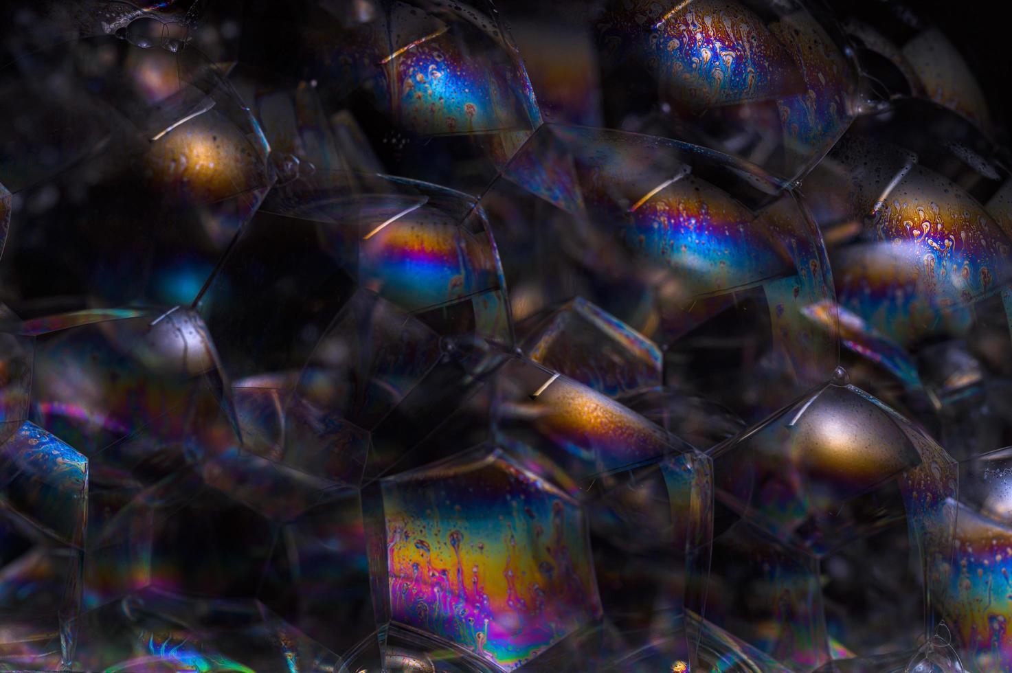 burbujas sobre fondo negro foto