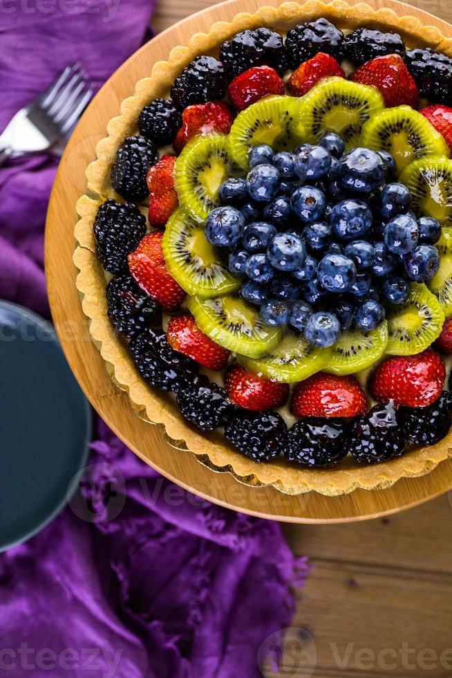 pastel de fruta foto