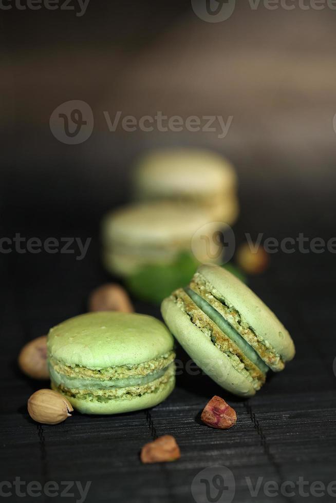 macarrones de pistacho foto