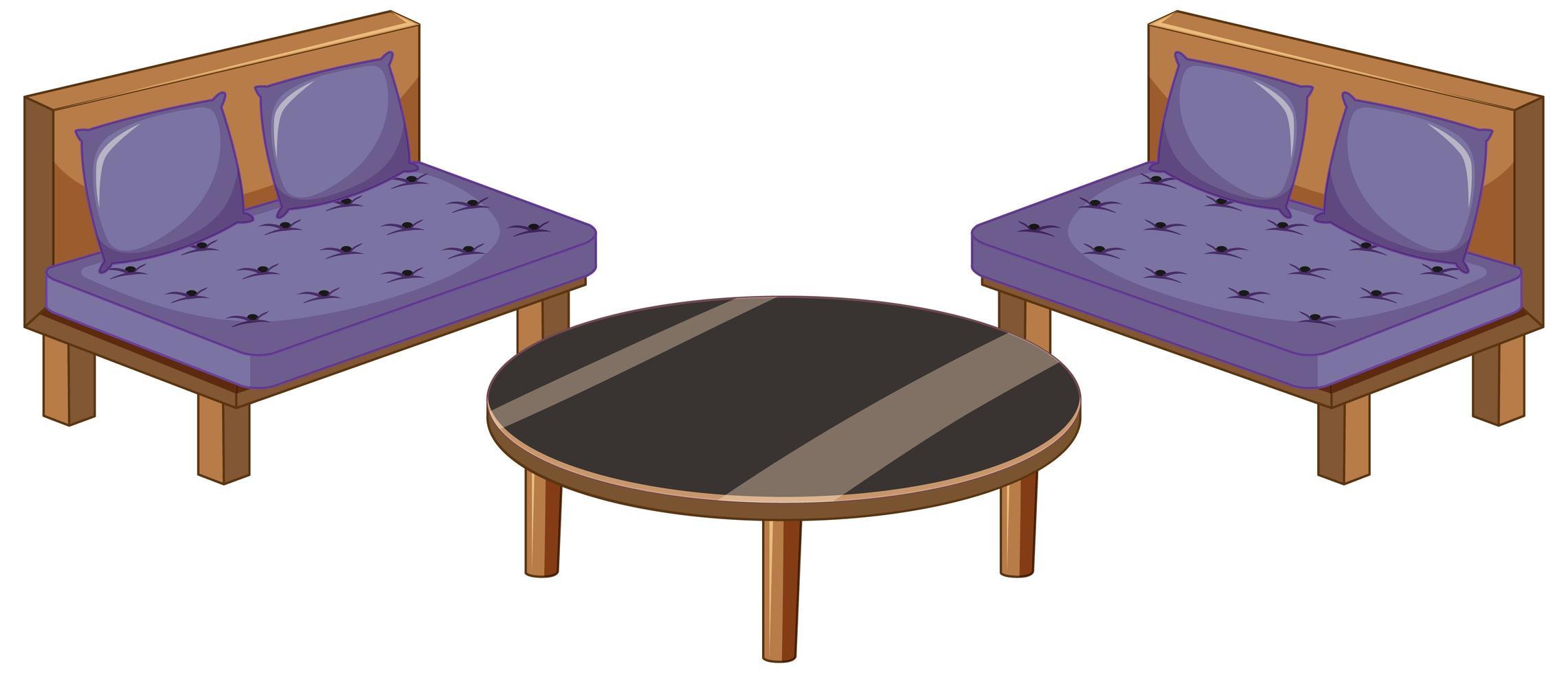 Living room furniture vector