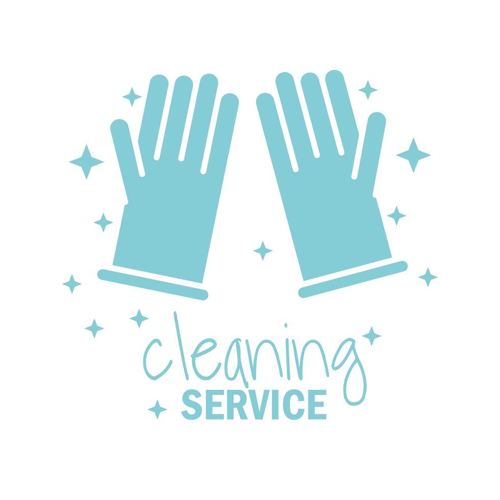 Cleaning service pictogram icon vector