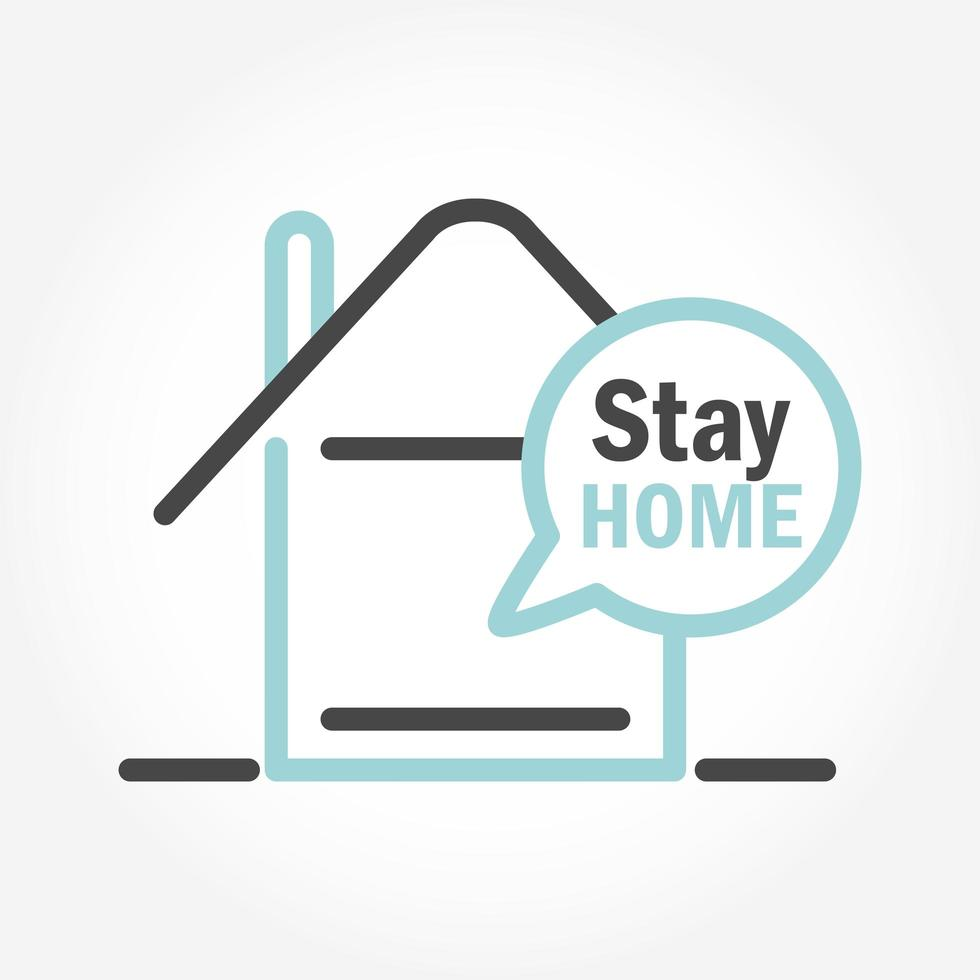 Stay home pictogram icon vector