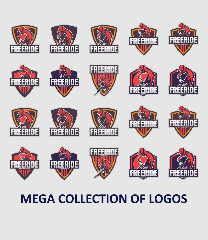 colección de plantillas de logotipos de bicicletas vector