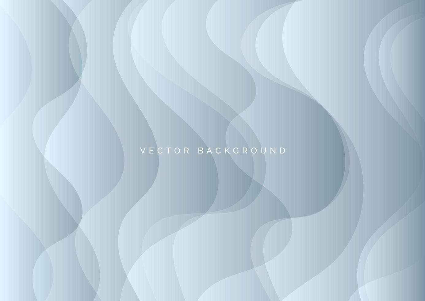 fundo abstrato com camadas curvas prateadas vetor