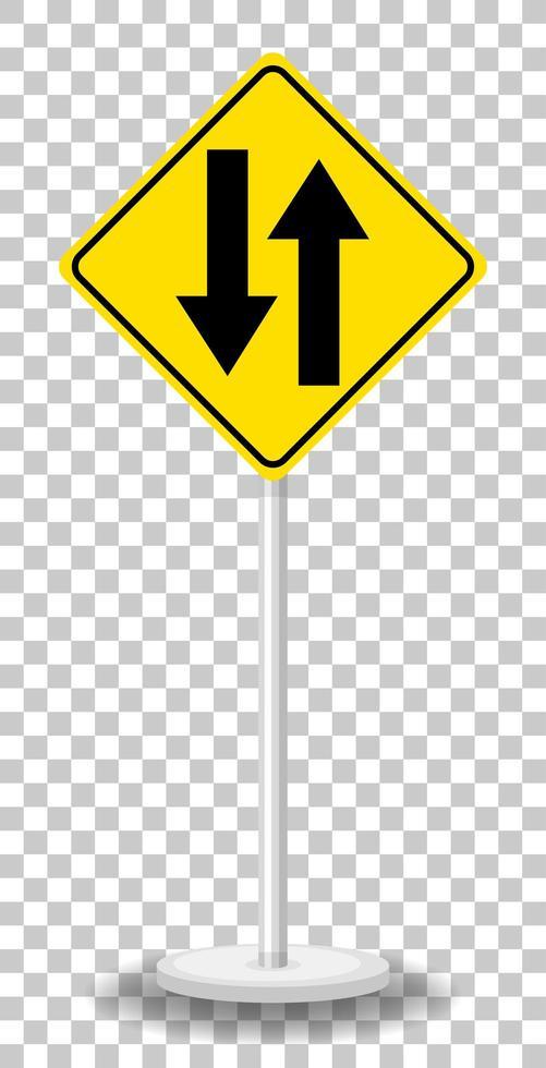 sinal de aviso de trânsito amarelo vetor