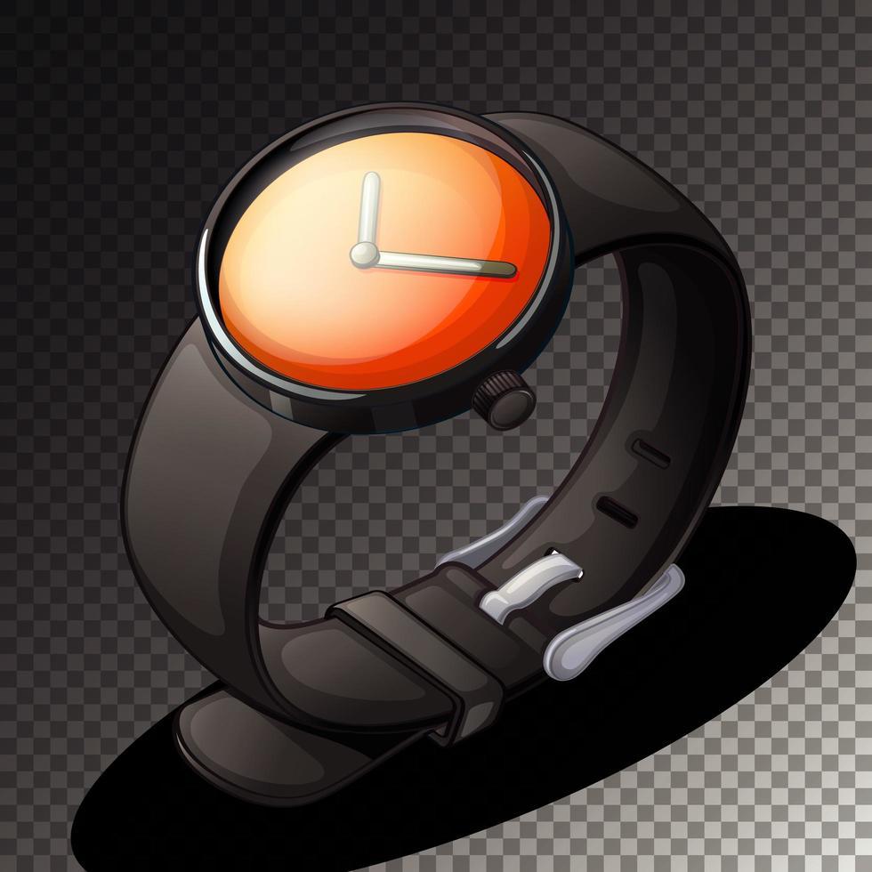 ícone de relógio preto isolado vetor