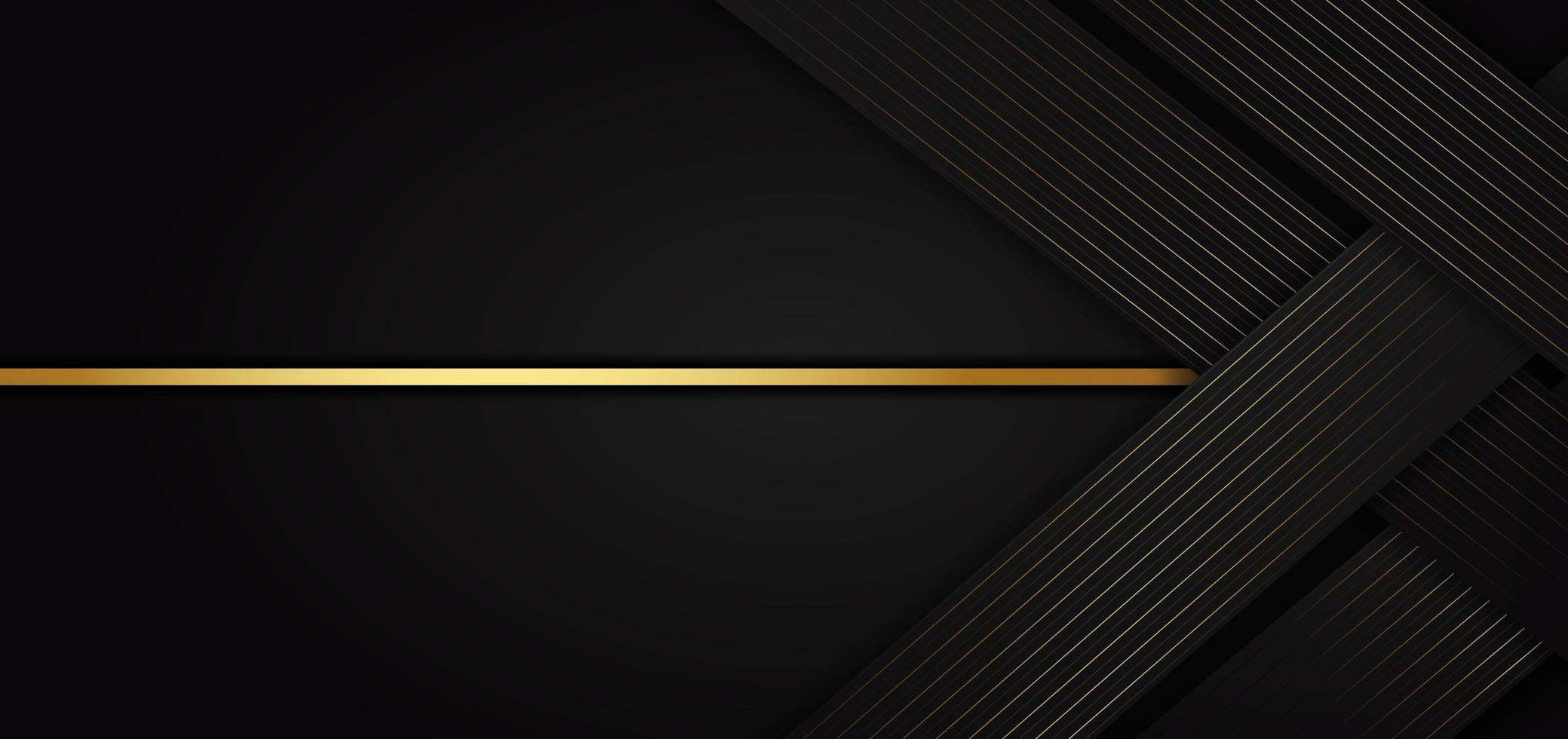 plantilla abstracta con elementos negros y dorados vector