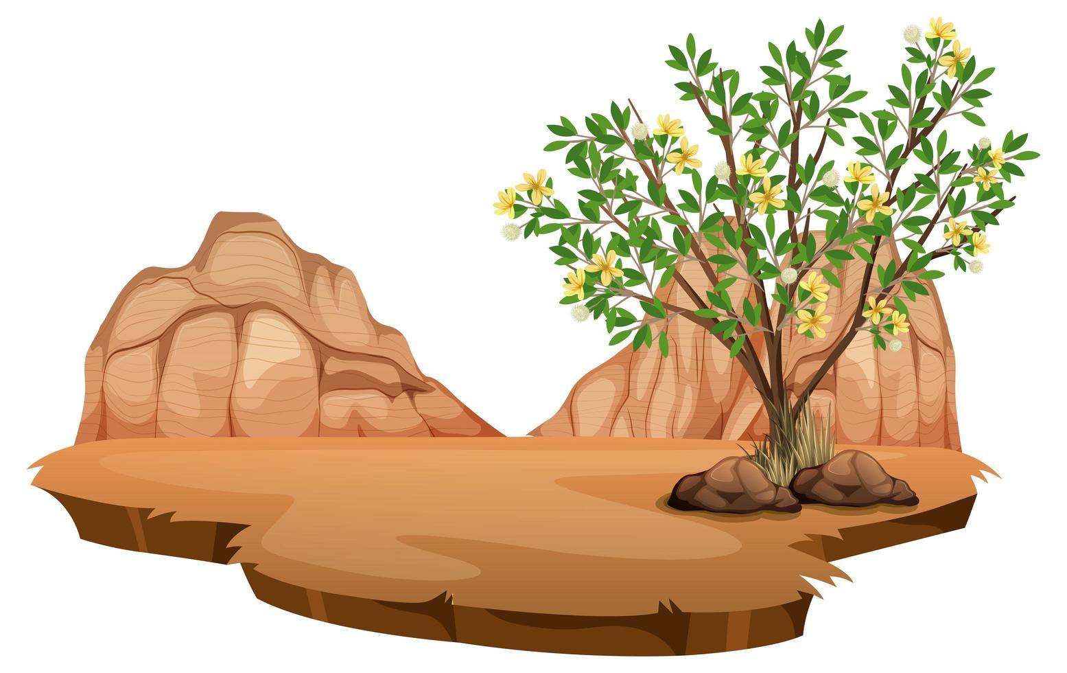 planta de creosoto em deserto selvagem vetor