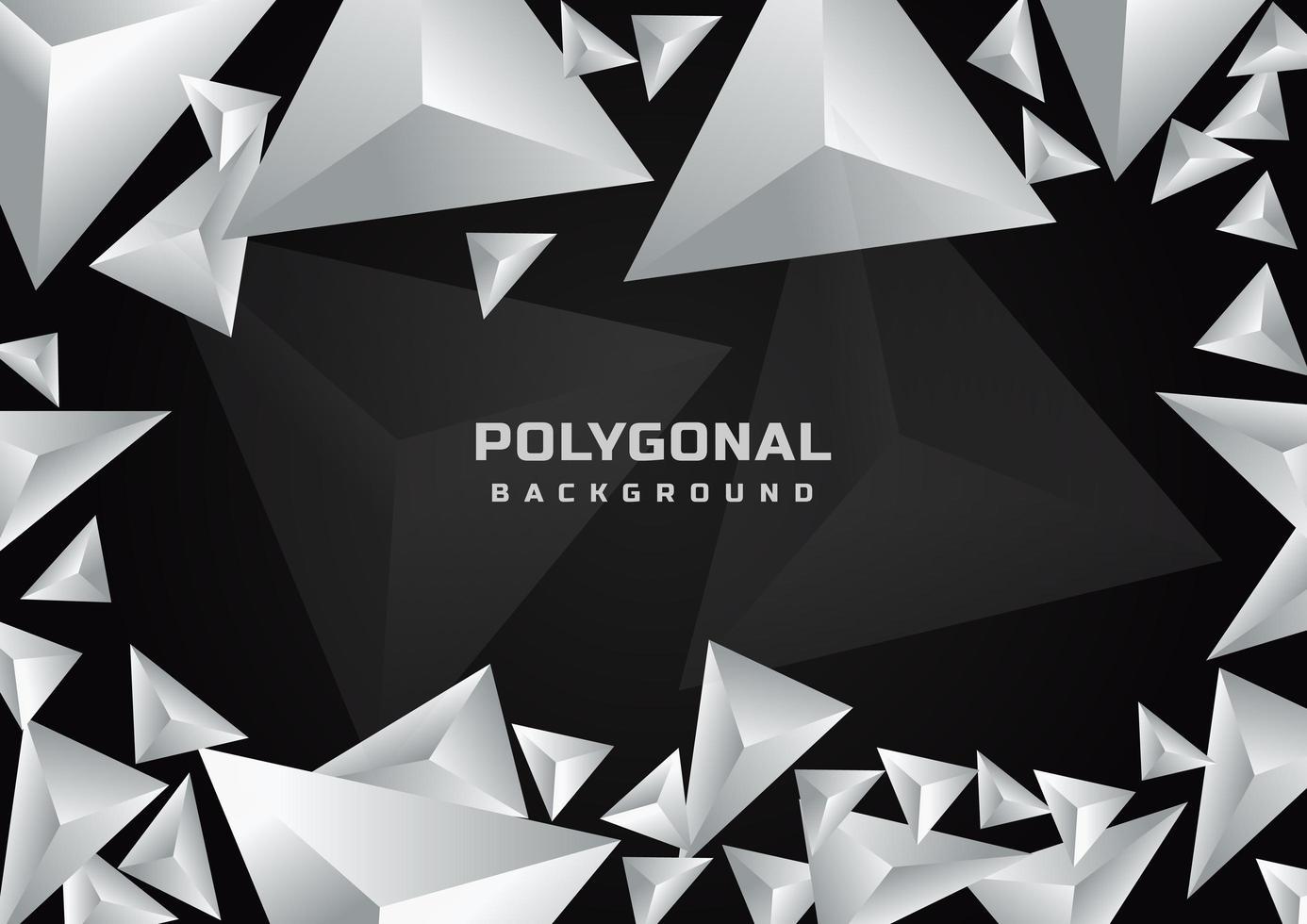 fundo poligonal geométrico abstrato vetor