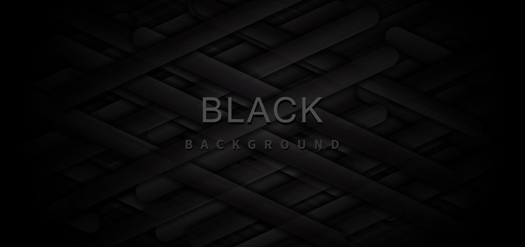 banner abstrato com elementos geométricos em preto e cinza vetor