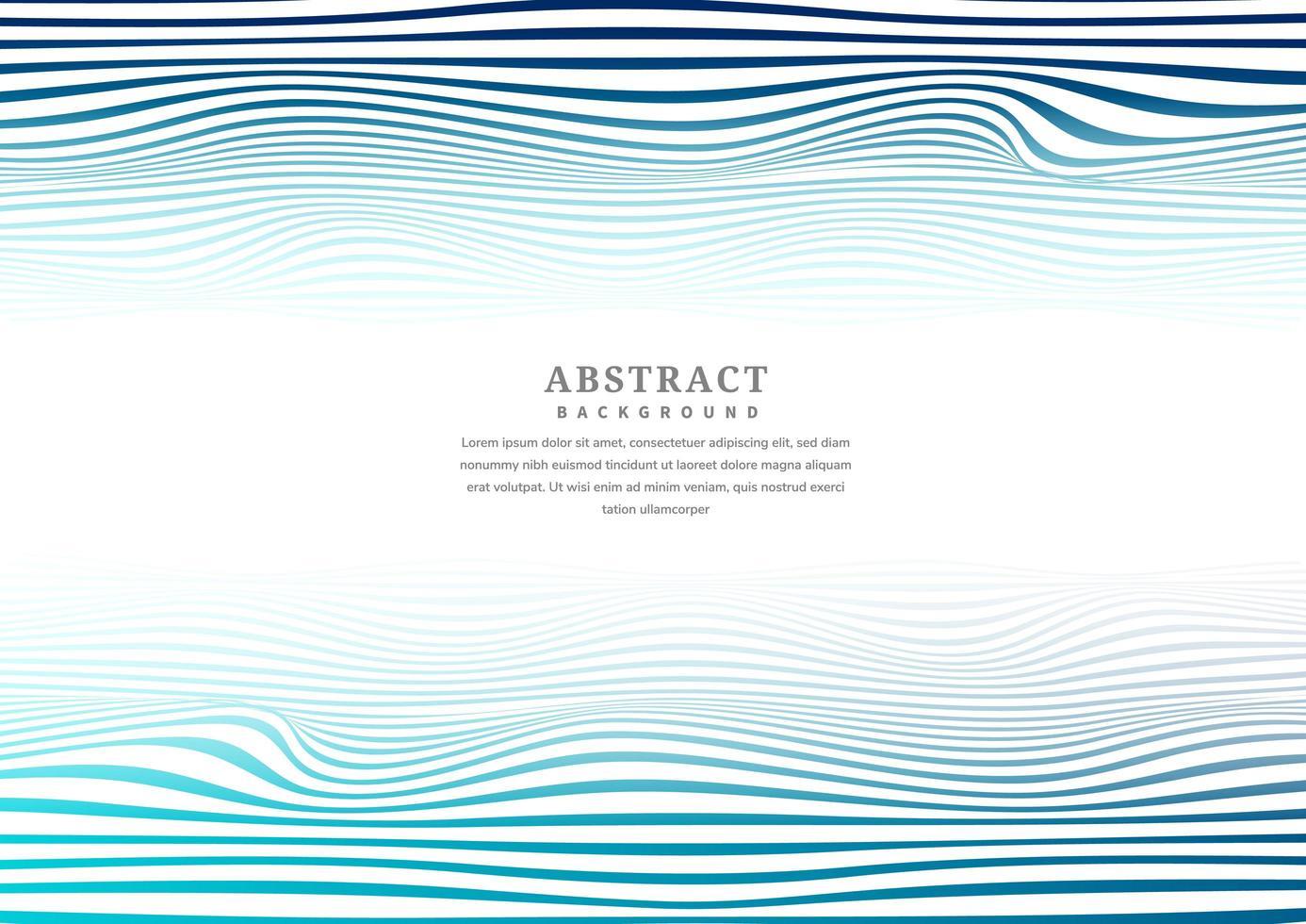 líneas azules abstractas y patrón de rayas onduladas vector