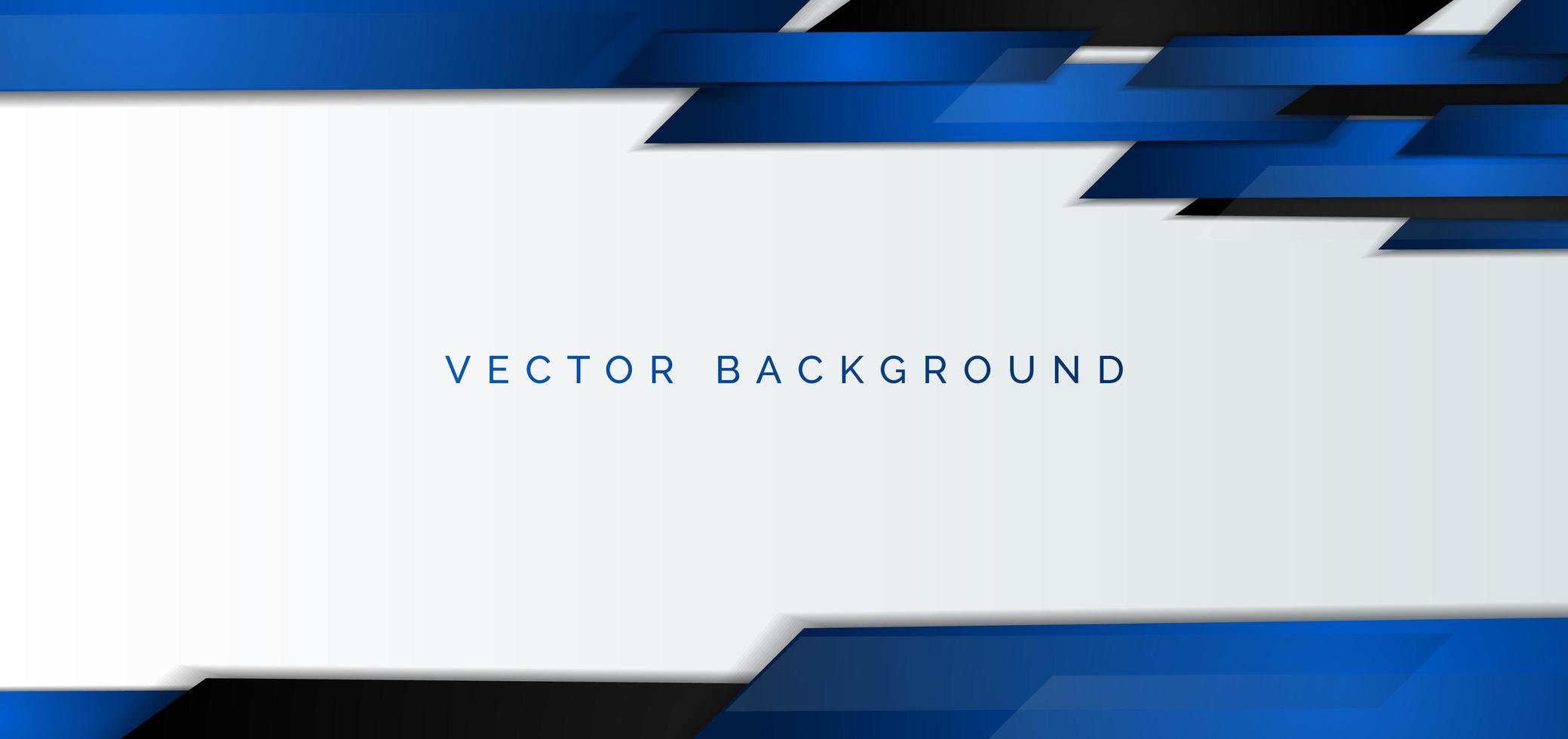 banner corporativo abstracto con elementos azules y negros vector