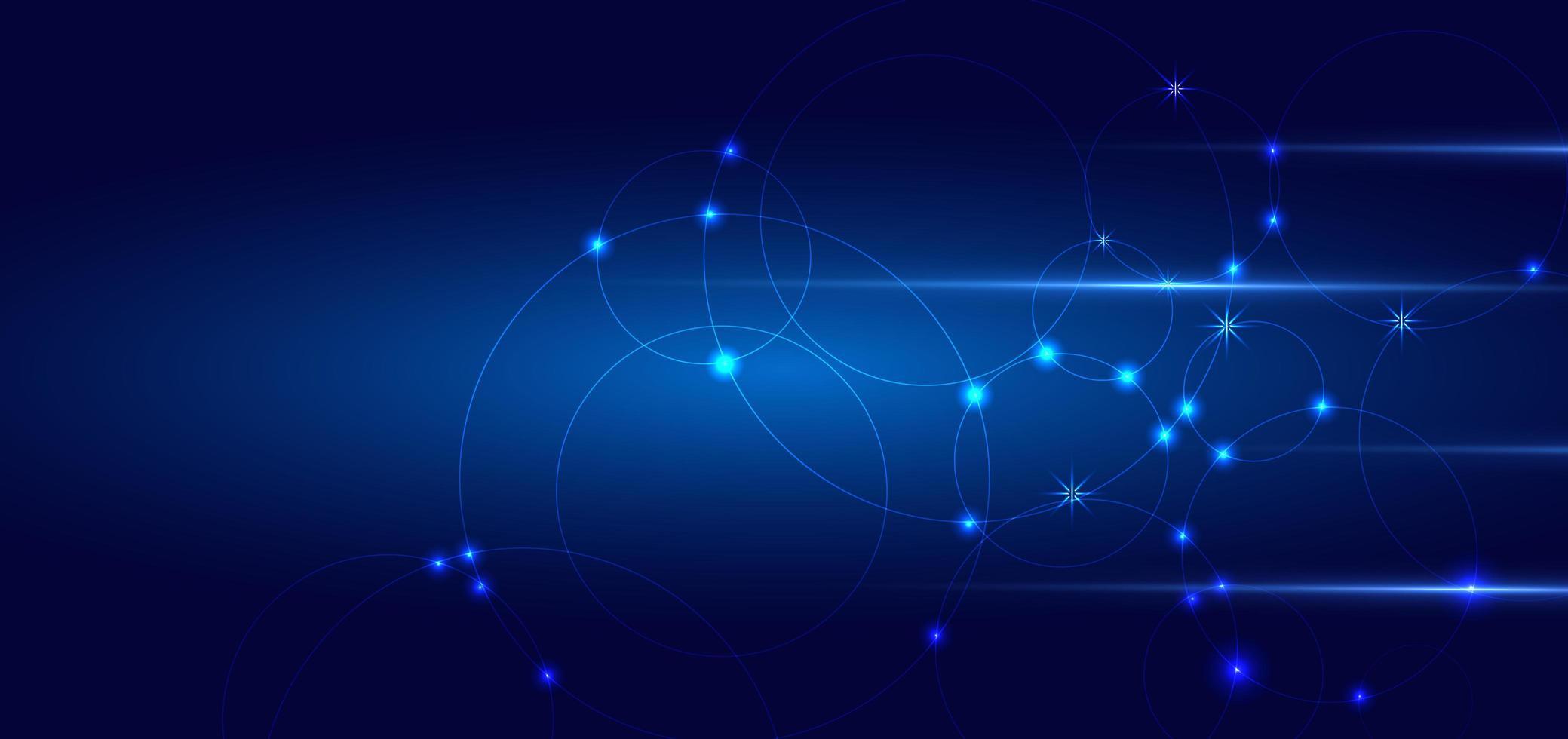 design de conexão de círculos, linhas e pontos abstratos vetor