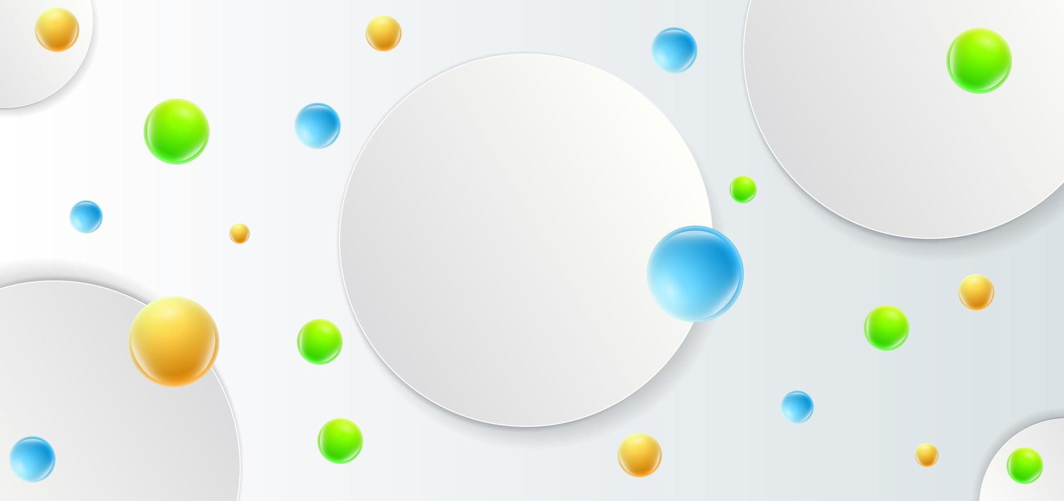 Abstract template with circles vector