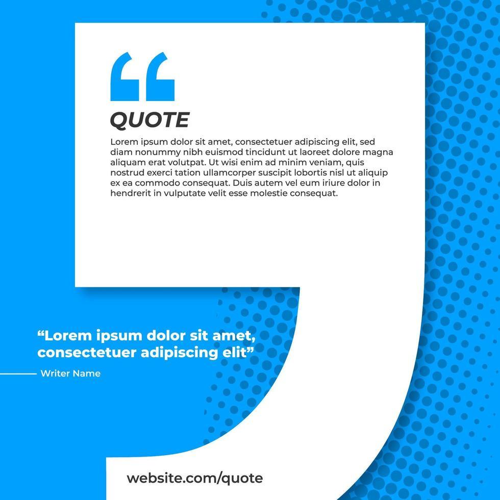 banner azul com citação vetor