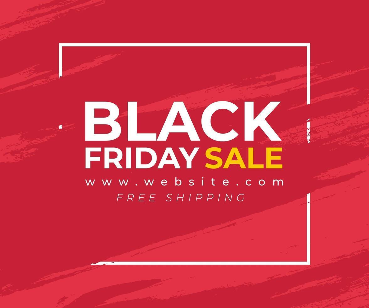 faixa vermelha com respingo para venda negra sexta-feira vetor