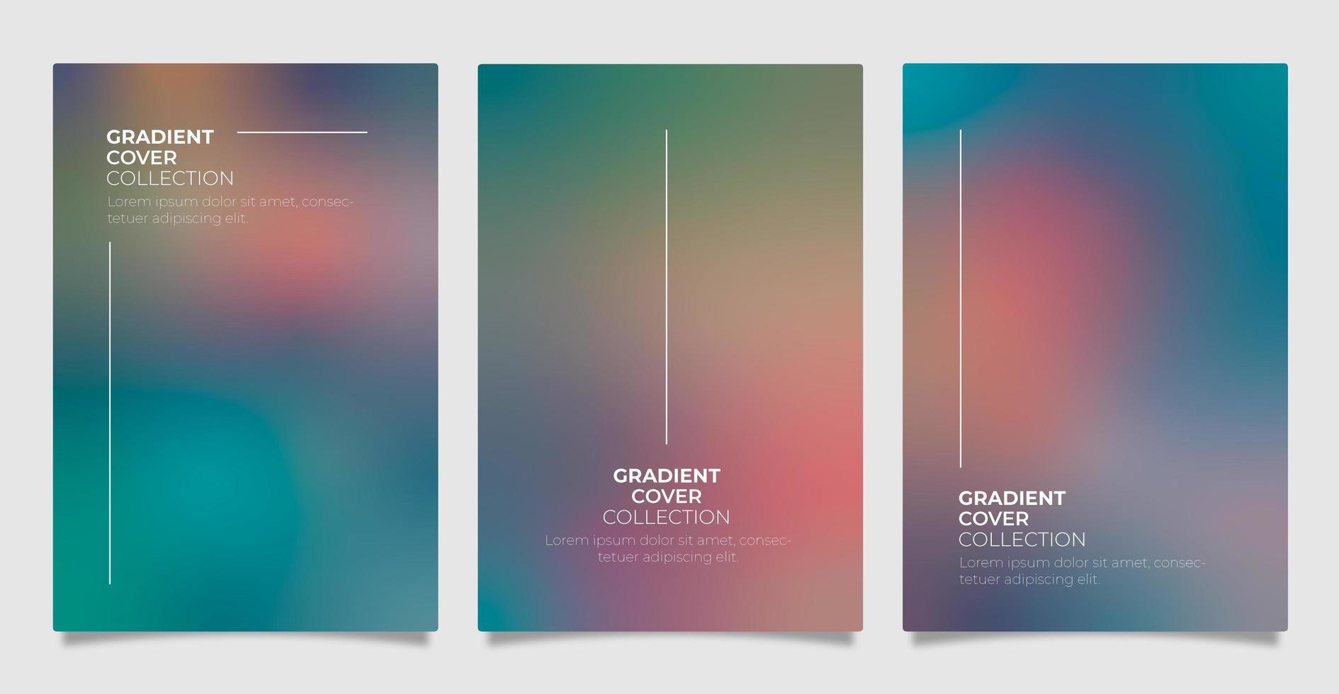 coleção de cobertura gradiente vetor