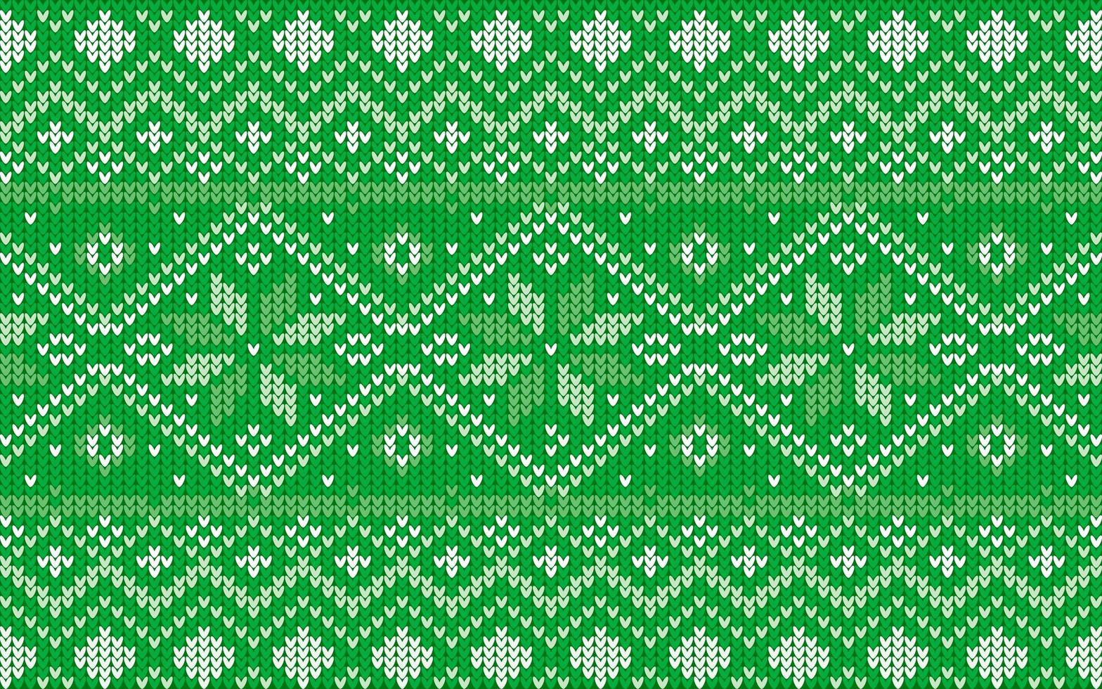 patrón jaquard para navidad con copos de nieve vector