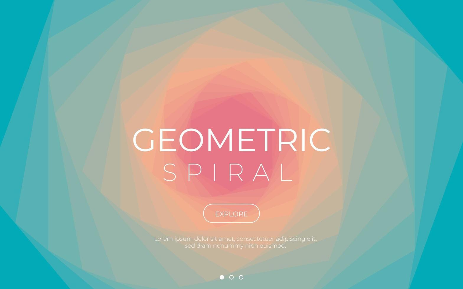 Colorful geometric spiral background vector