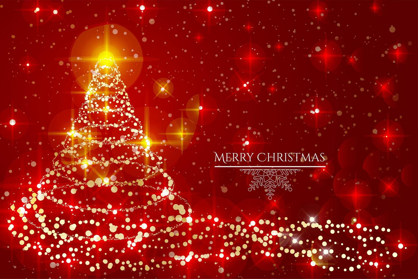 Merry Christmas background design vector