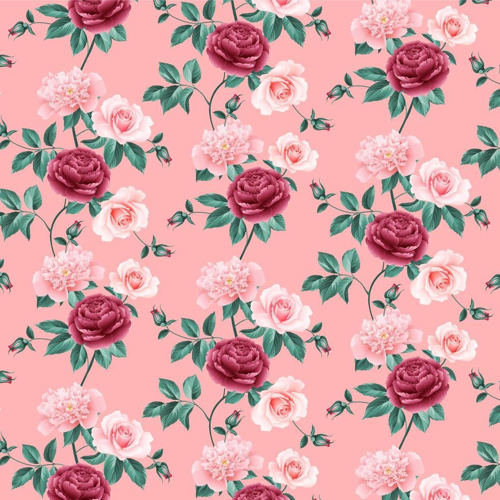 fundo transparente com flores rosa vetor