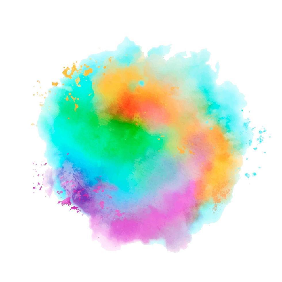 salpicaduras de acuarela de colores vector