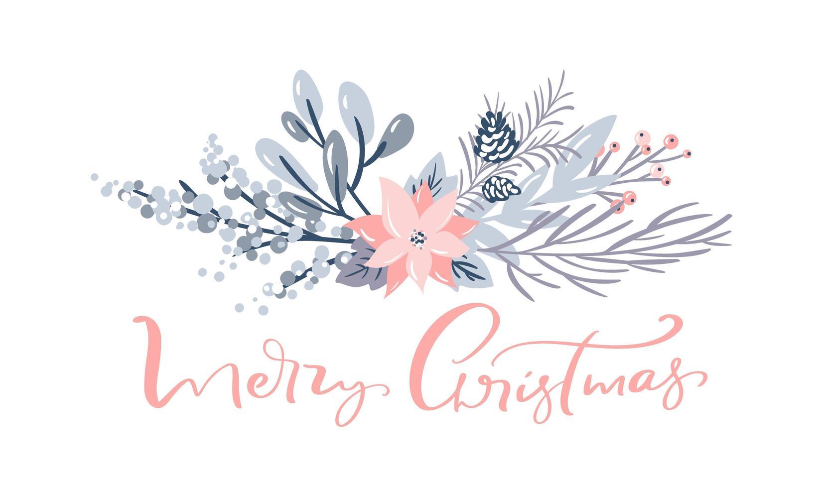 feliz navidad saludo diseño de tarjeta decorativa vector