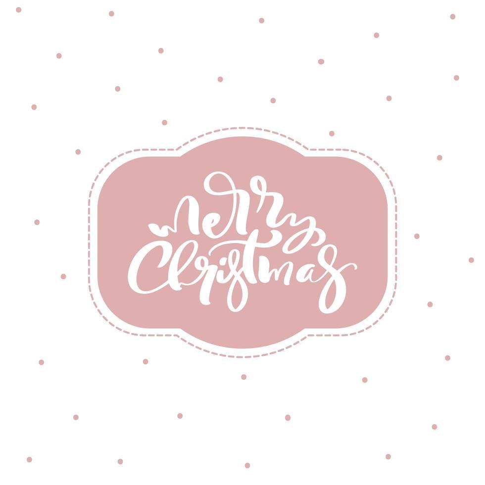 quadro de vetor vintage feliz Natal.