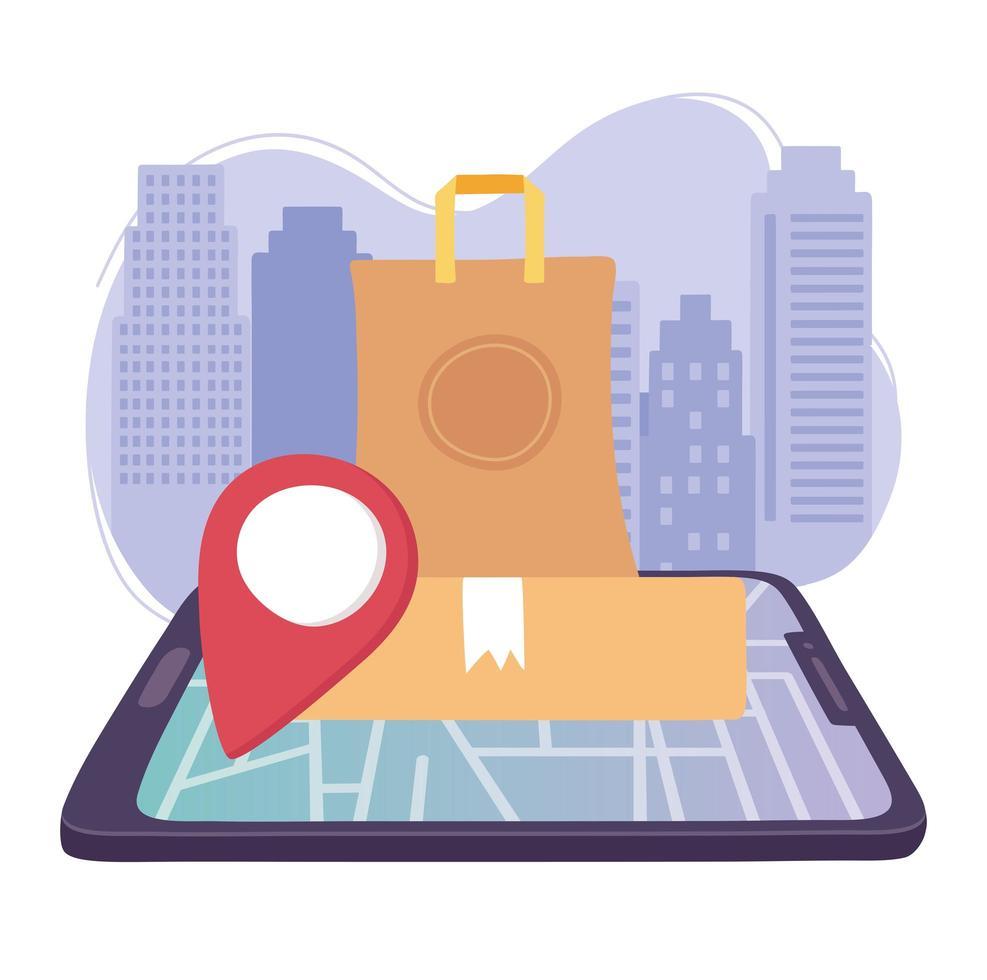 servicio de entrega online vector