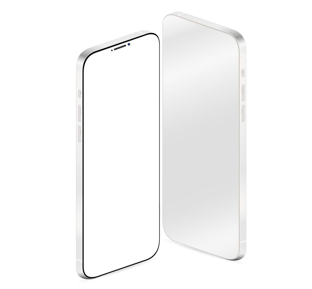 vista frontal y posterior del teléfono realista vector