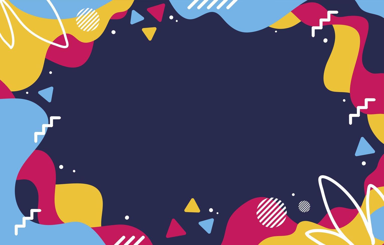 fondo plano abstracto líquido colorido vector