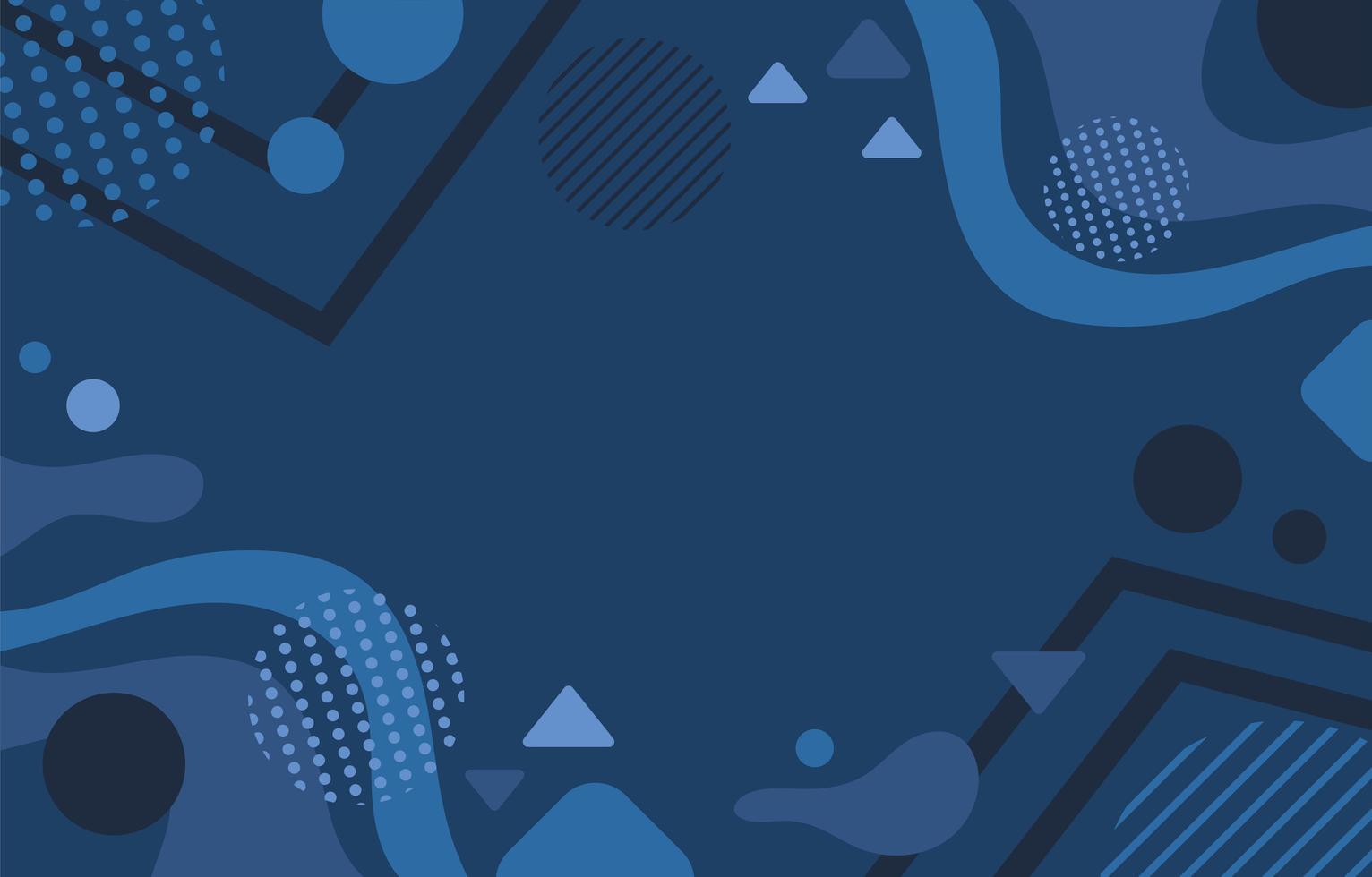 fundo azul clássico abstrato vetor