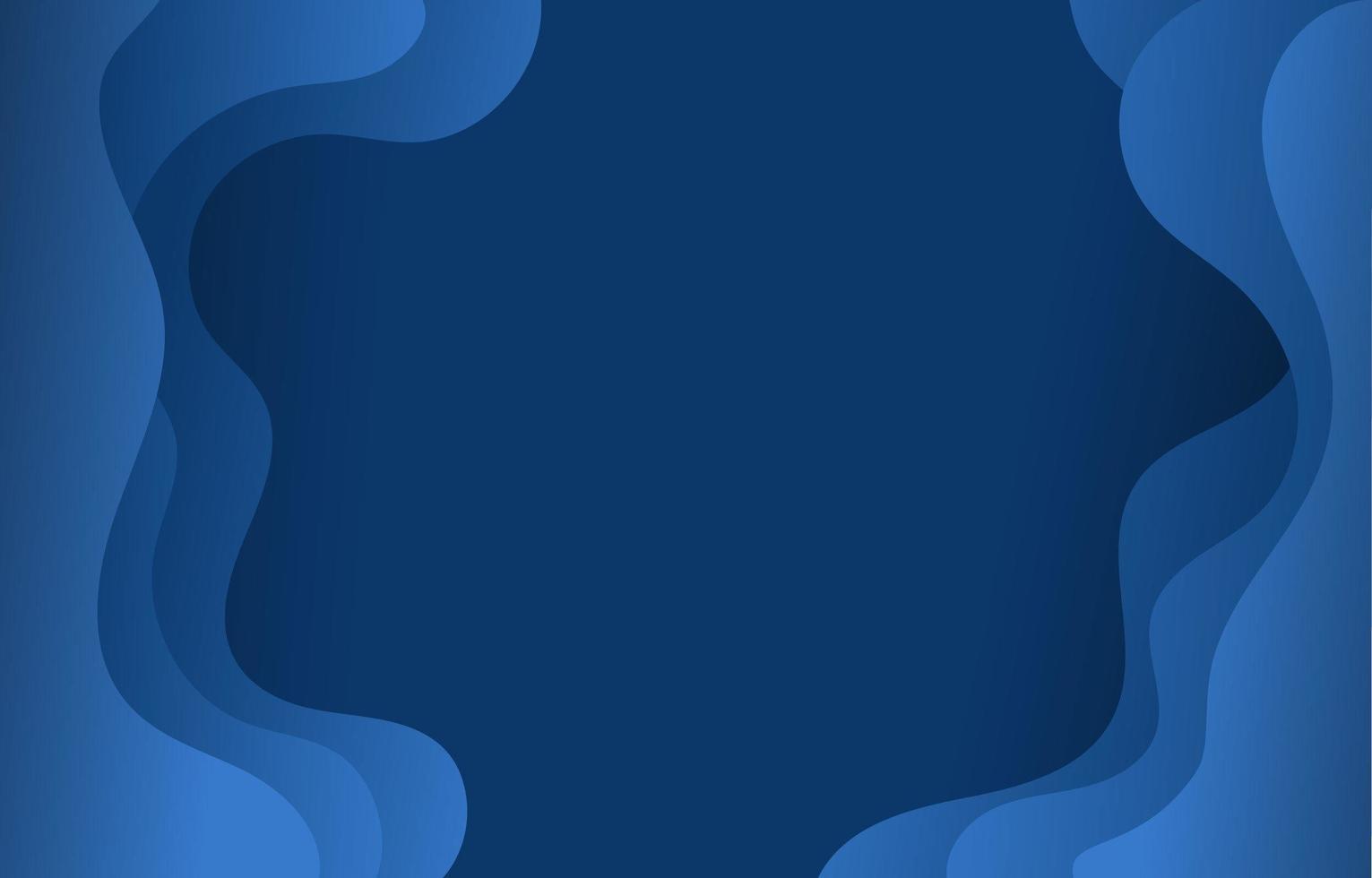 Fondo de corte de marco de onda abstracta vector