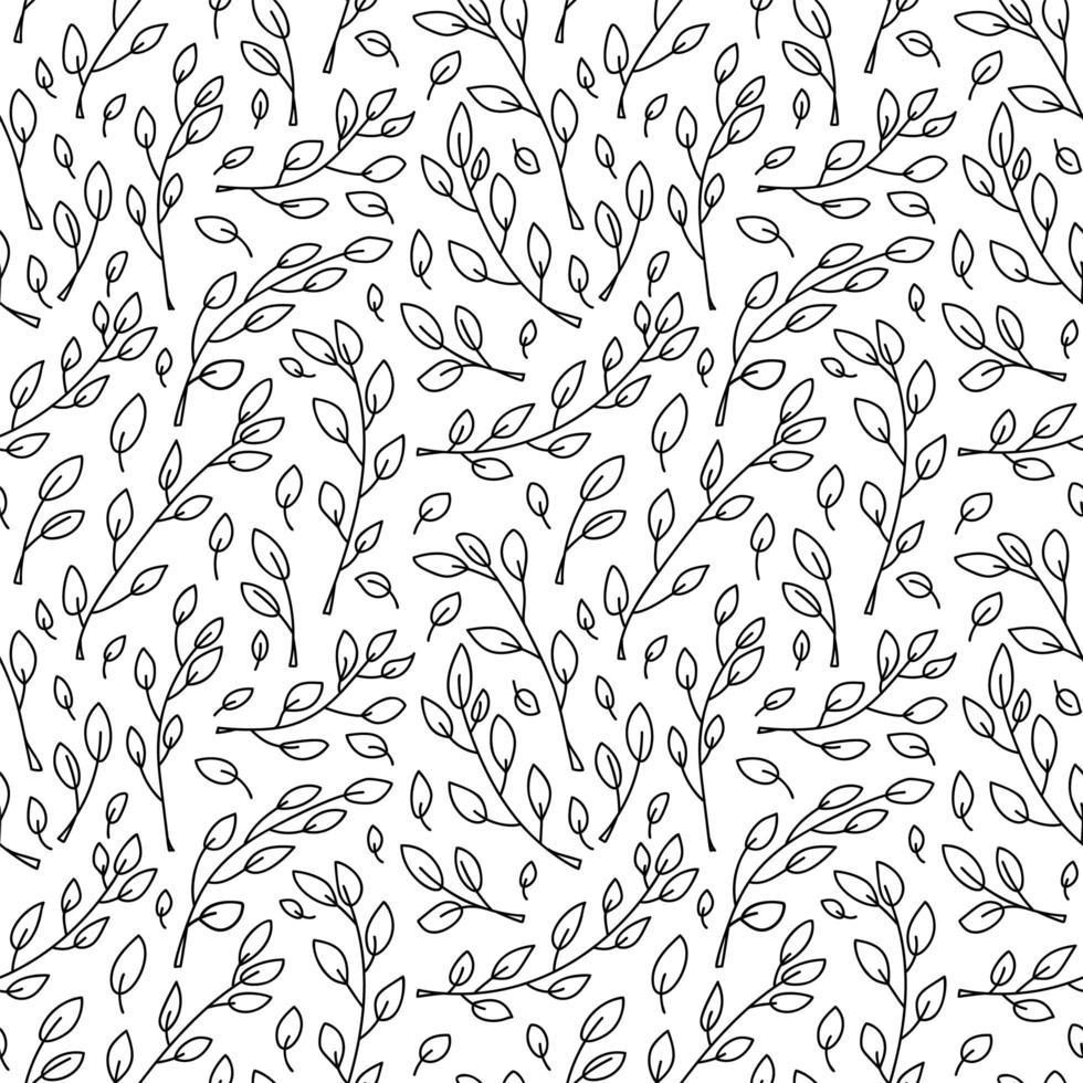 Cute minimalist monoline Scandinavian seamless pattern vector