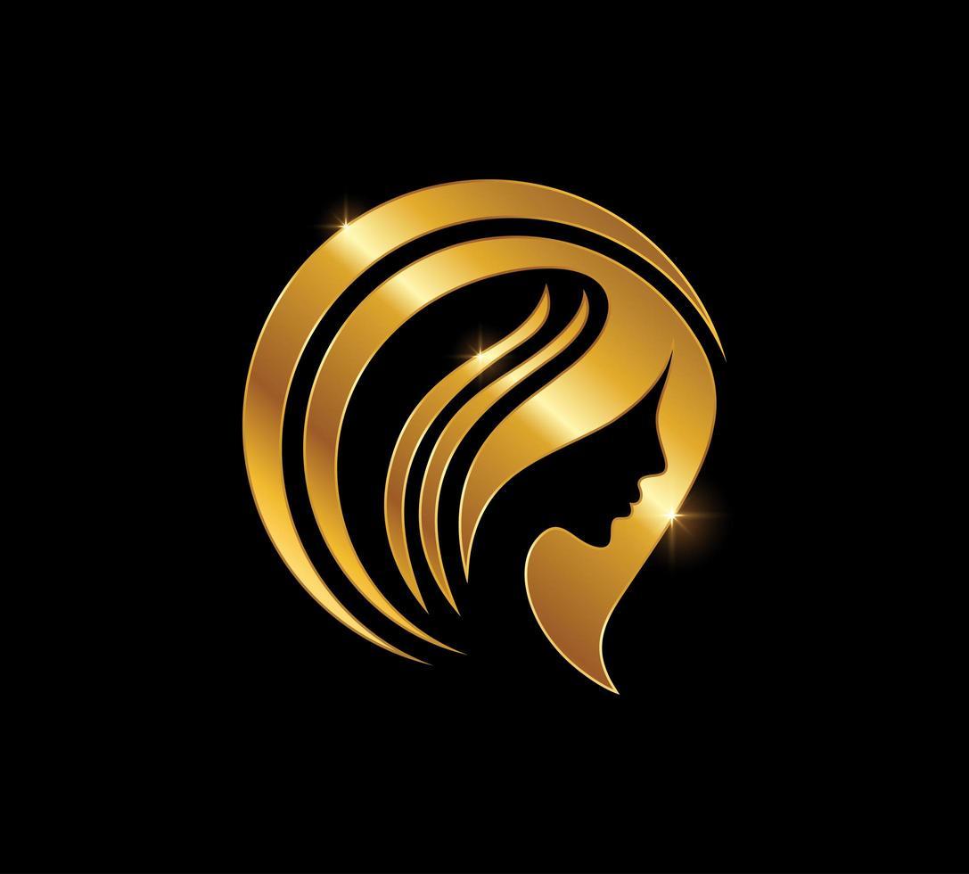 sinal de beleza mulher dourada vetor