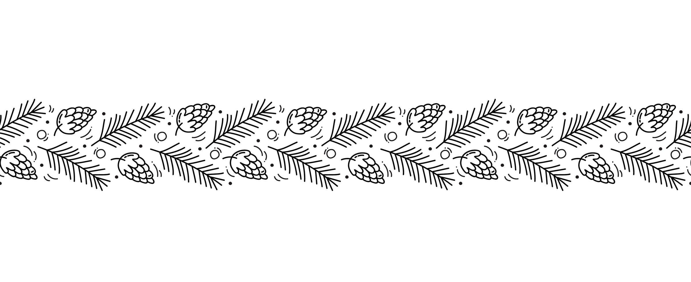 navidad monoline escandinavo de patrones sin fisuras vector