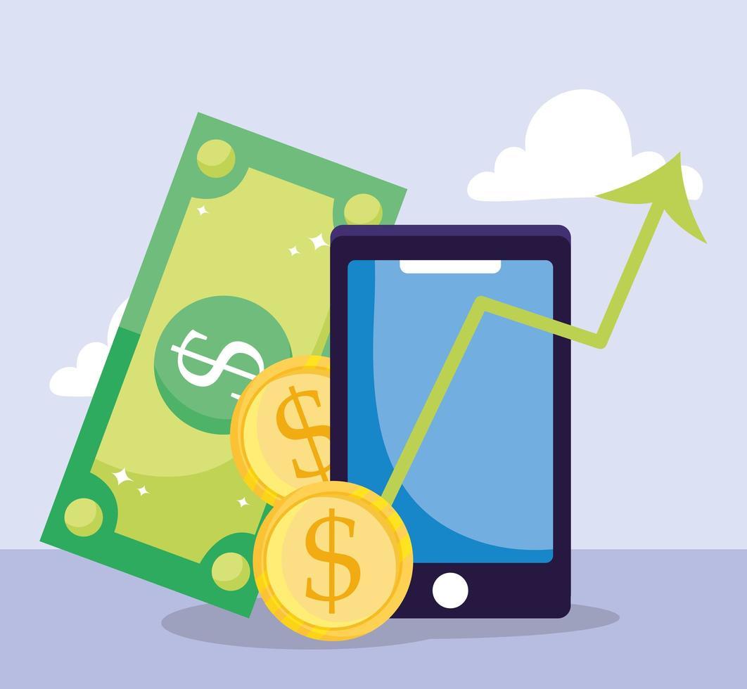 composição de pagamento e comércio eletrônico online vetor